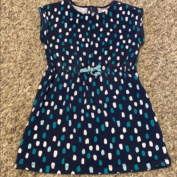 Gymboree blue polka dot dress